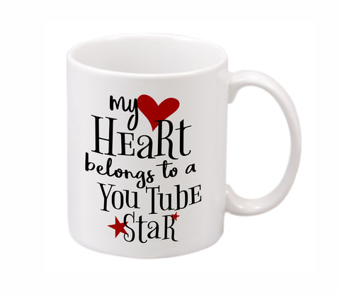 My Heart Belongs to a YouTube Star Mug