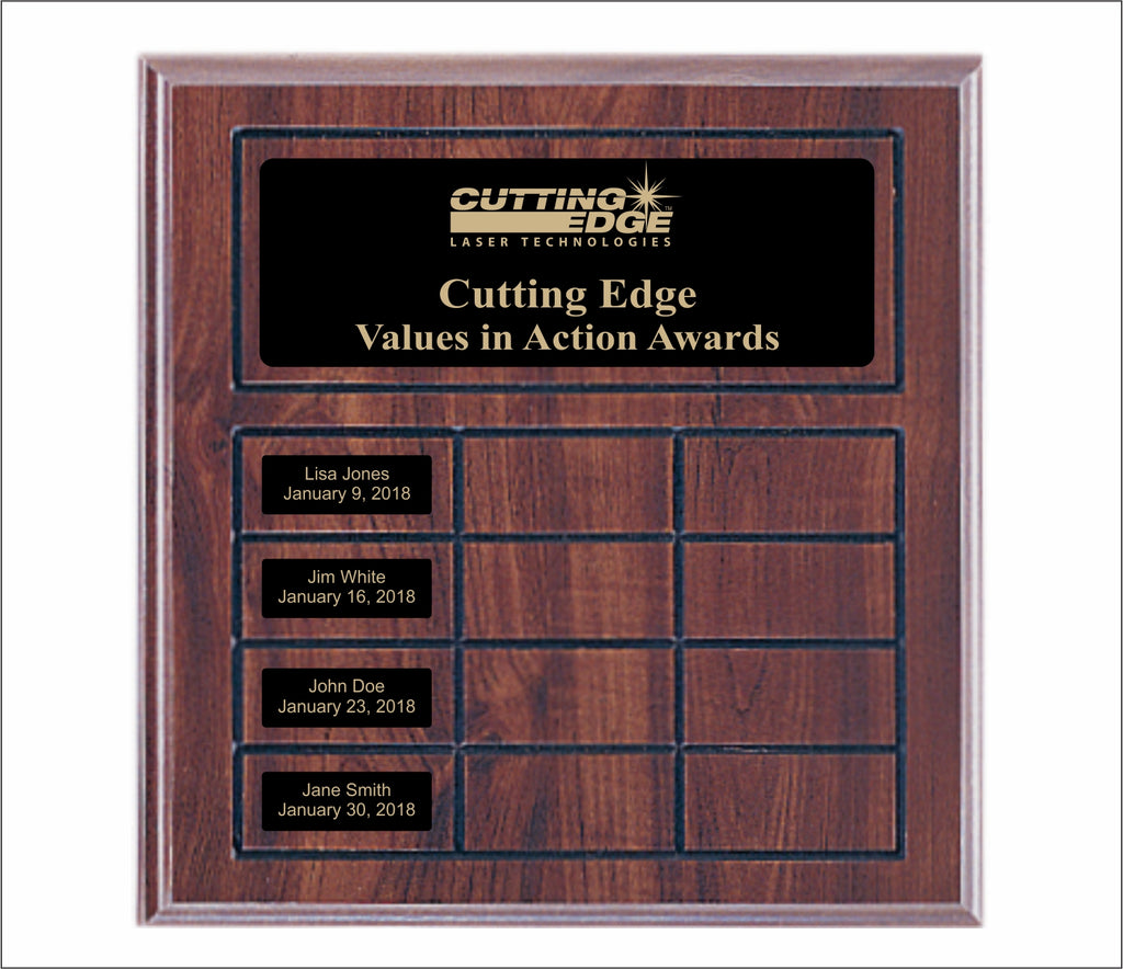 Black Value Series Perpetual Name Plate Plaque