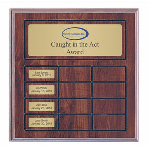 Gold Value Series Perpetual Plaque