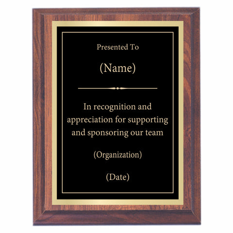 Recognition Premier Award Plaque
