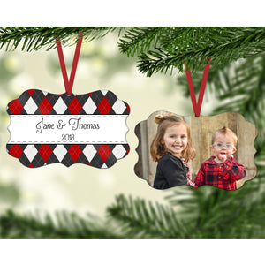 Scalloped Christmas Ornaments