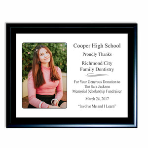 Snapshot Plaque - your image and customized text