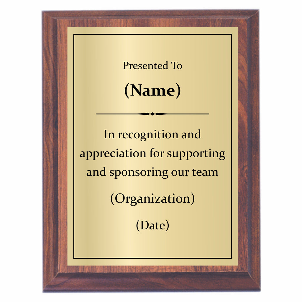 sponsor plaques offered by awards2you awards2you