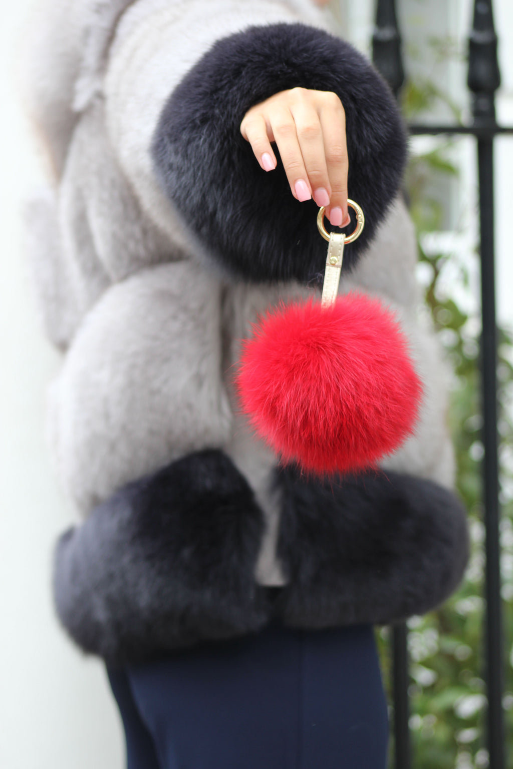 Red Fox Fur Keyring
