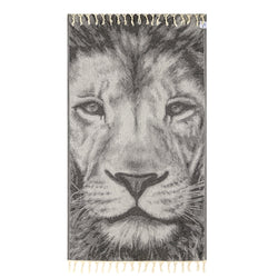 100% Natural Turkish Cotton Lightweight Pestemal Fouta Towel (Lion)