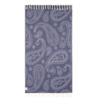 100% Natural Turkish Cotton Lightweight Peshtemal Fouta Towel (Paisley)