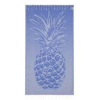 100% Natural Turkish Cotton Lightweight Pestemal Fouta Towel (Pineapple)