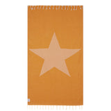 100% Natural Turkish Cotton Lightweight Pestemal Fouta Towel (Star)