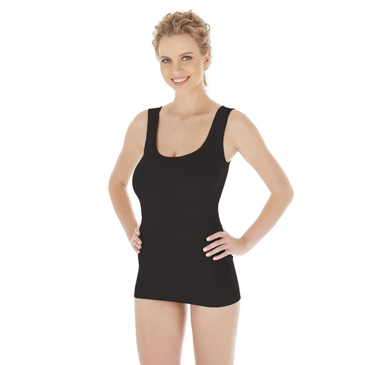 Seamless Bamboo Thick Strap Undershirt / Tank Top