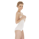 Natural Seamless Anti-Slip Hi-Waist Hi-Cut Bamboo Tummy Belly Shaper Underwear