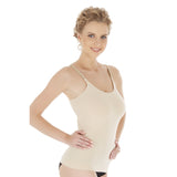 Seamless Bamboo Adjustable Strap Undershirt Tank Top