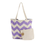 Multi-Purpose Chevron Shopping/Beach Bag