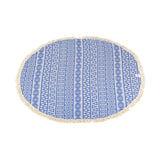 Round Poyraz 100% Cotton Throw Blanket