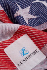 American Flag 100% Cotton Pestemal Lightweight Towel