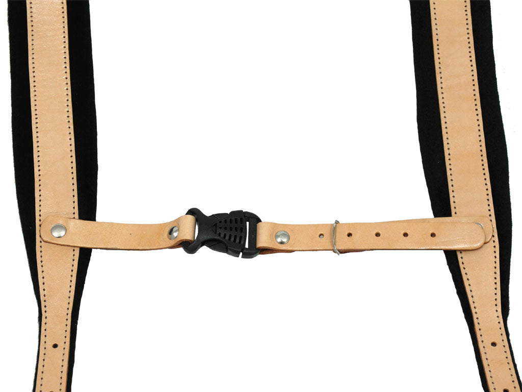 D'Luca Pro SM Series Genuine Leather Accordion Straps Natural/Black