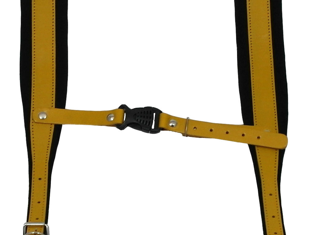 D'Luca Pro SM Series Genuine Leather Accordion Straps Yellow/Black
