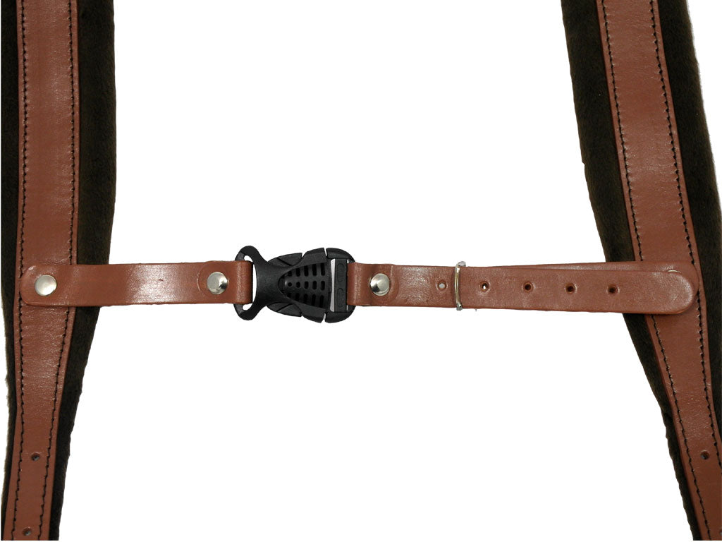 D'Luca Pro SM Series Genuine Leather Accordion Straps Brown/Brown