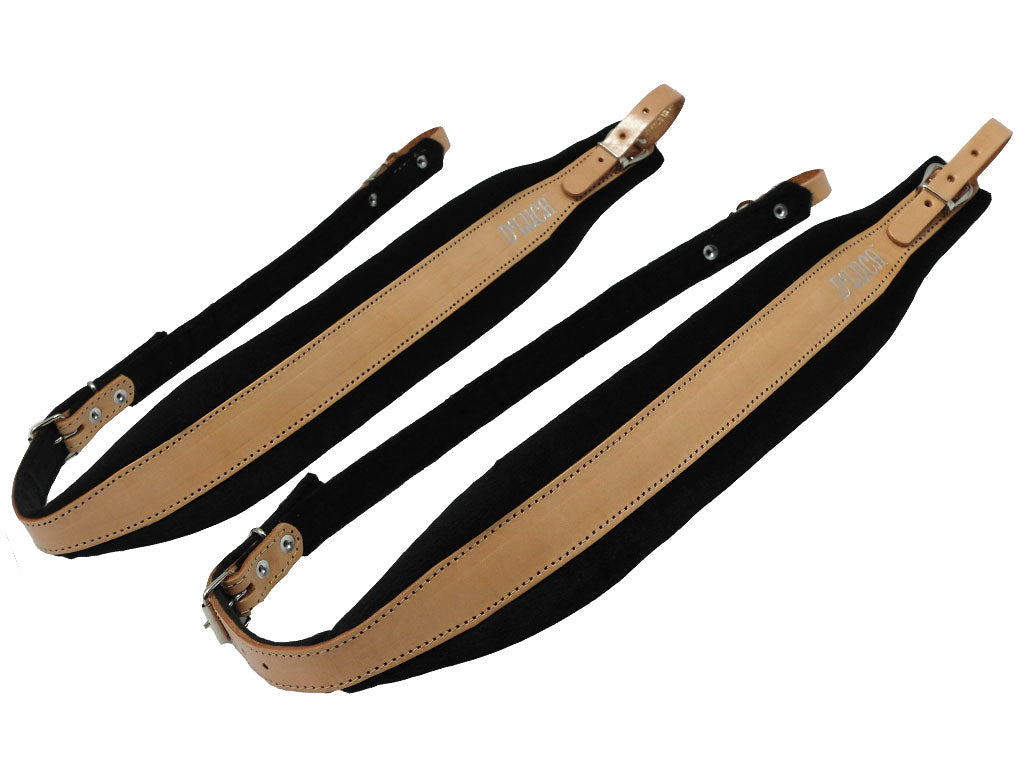 D'Luca Pro SG Series Genuine Leather Accordion Straps Natural/Black