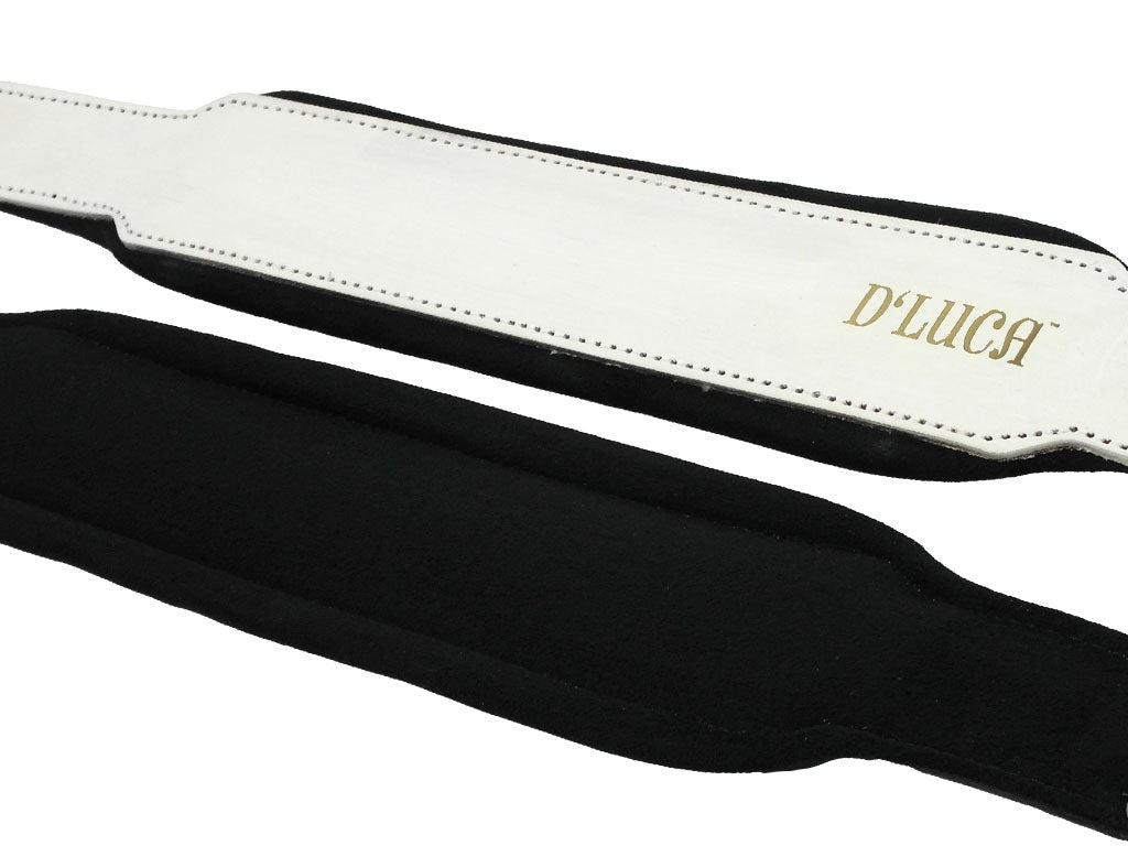 D'Luca Pro Series Genuine Leather Accordion Bass Straps 16.5 Inches White