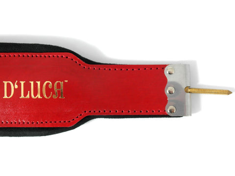 D'Luca Pro Series Genuine Leather Accordion Bass Straps 18.5 Inches Red