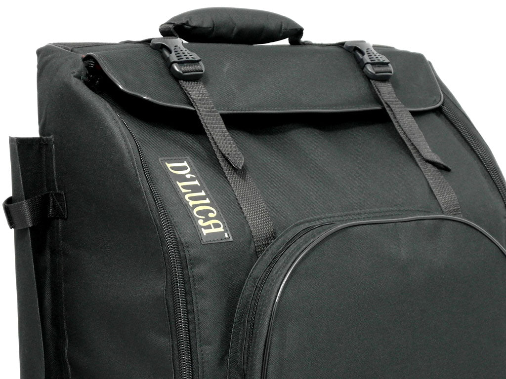 D'Luca Pro Series Accordion Gig Bag for 48/72 Bass Piano Accordions, Black