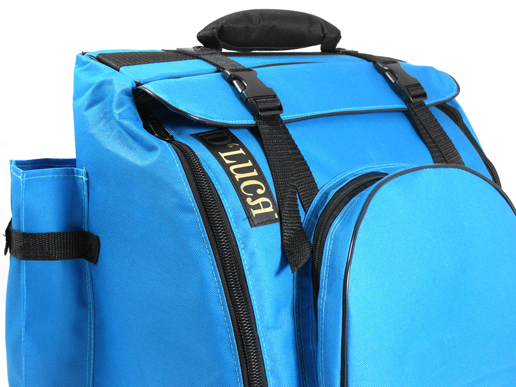 D'Luca Pro Series Accordion Gig Bag for 48/72 Bass Piano Accordions, Blue