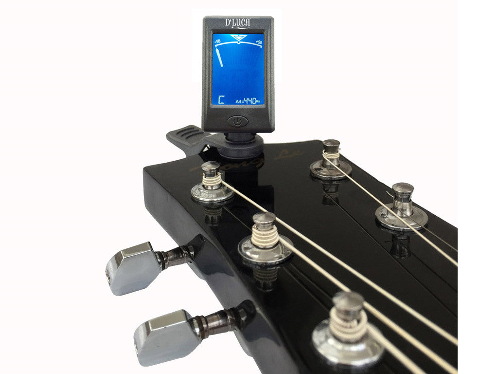 D'Luca Mini Clip-On Guitar, Bass, Violin, Ukulele, Chromatic Tuner