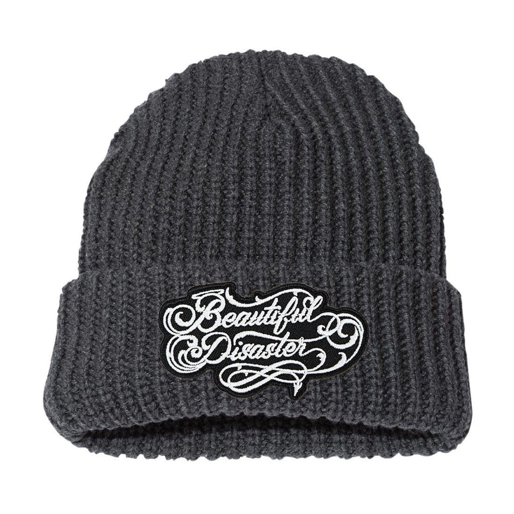 Loyalty Chunky Knit Beanie - Charcoal