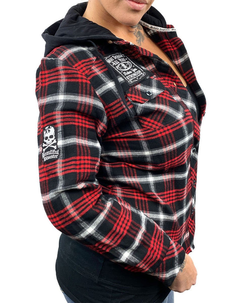Beautiful Disaster Hooded Flannel