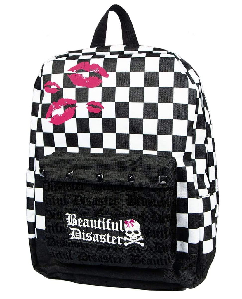 Checkered Kiss Backpack