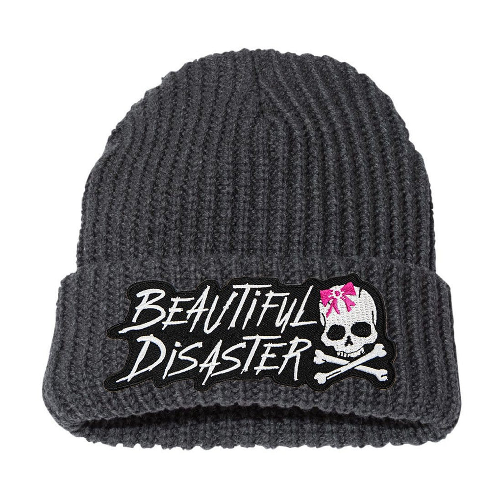 Reckless Chunky Knit Beanie - Charcoal