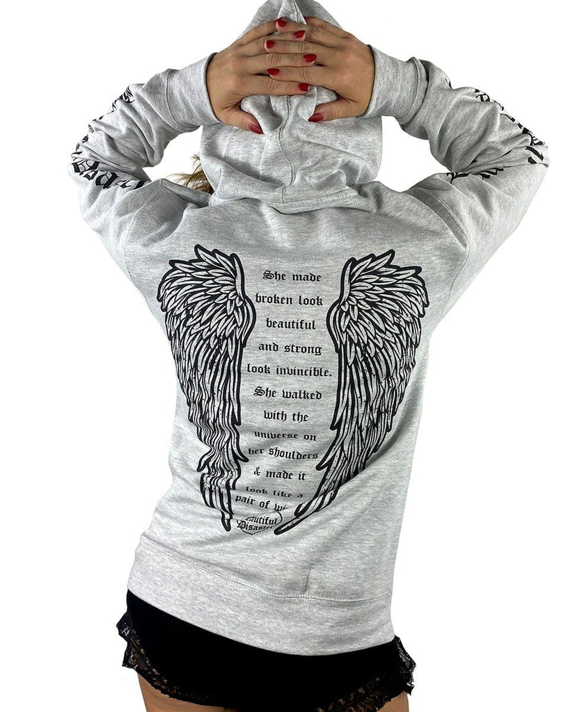 Angel Pullover Hoodie - Heather Gray
