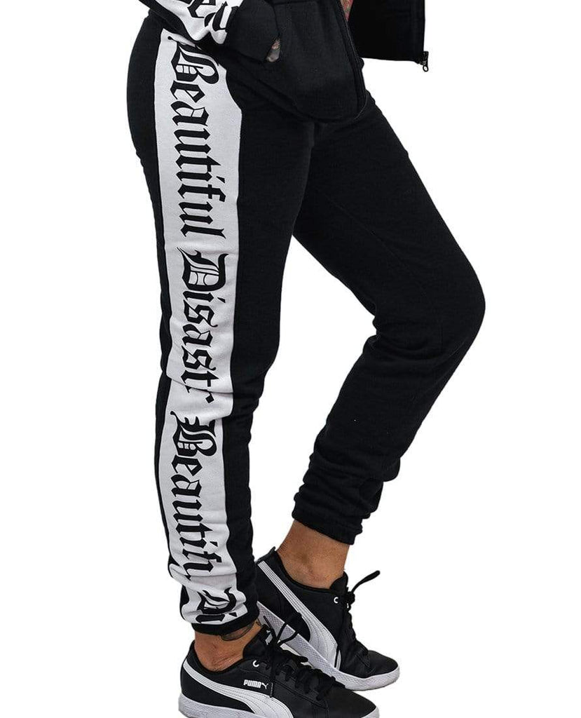 Sweatsuit Pant - Black/White