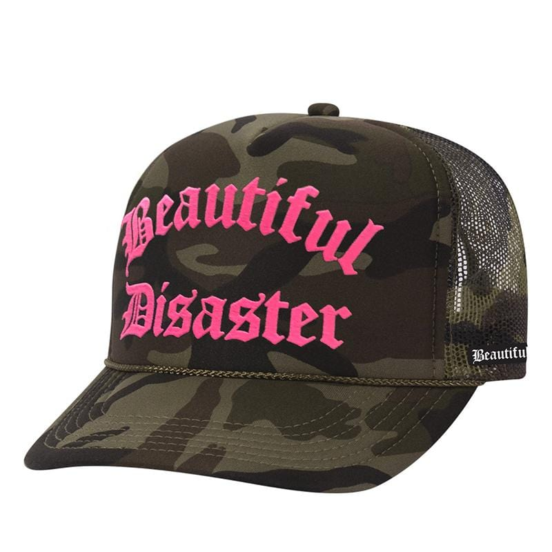 Punk Princess Trucker Hat - Camo/Hot Pink