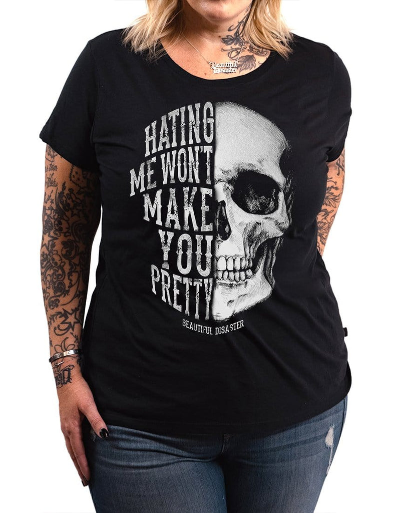 Hating Me Skull Scoop Tee