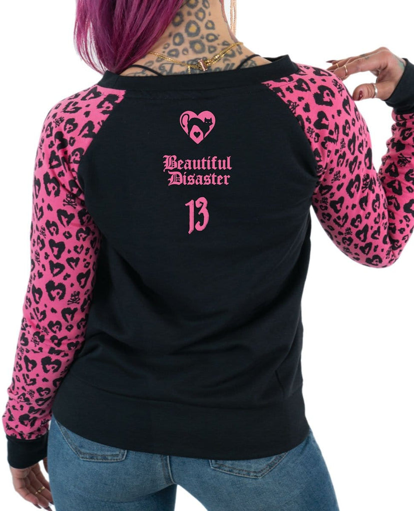 Lucky Enough Leopard Pullover - Pink