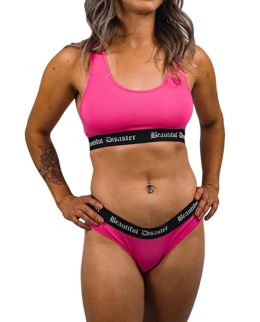 Punk Princess Cotton Sports Bra - PINK