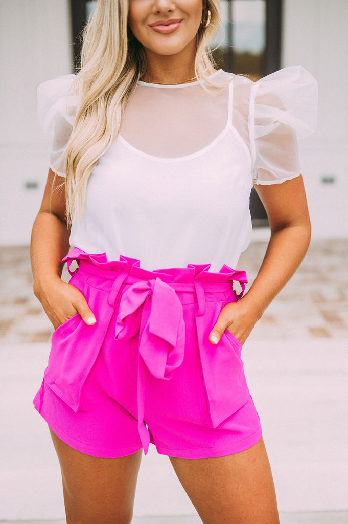 Plunge Neck Peplum Top