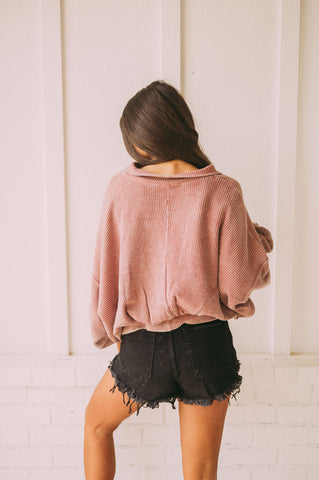 Blush Suede Tailor Jacket
