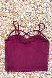 Multi Strap Crop Top- Burgundy