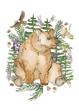 Load image into Gallery viewer, Woodland Bear Print