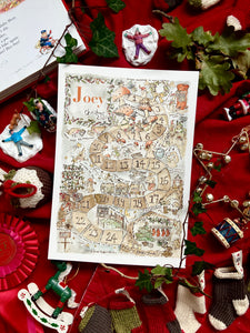 Personalised Christmas Advent Print
