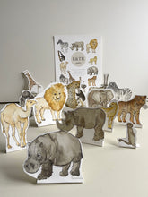 Load image into Gallery viewer, E&TR Makes - Safari Animals Cut Out & Make Digital Download