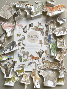 E&TR Makes - Tropical Jungle Animals Cut Out & Make Digital Download