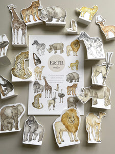 E&TR Makes - Safari Animals Cut Out & Make Digital Download
