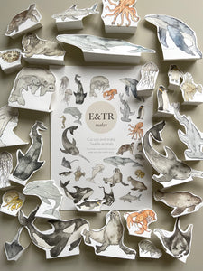 E&TR Makes - Sea-life Animals Cut Out & Make Digital Download