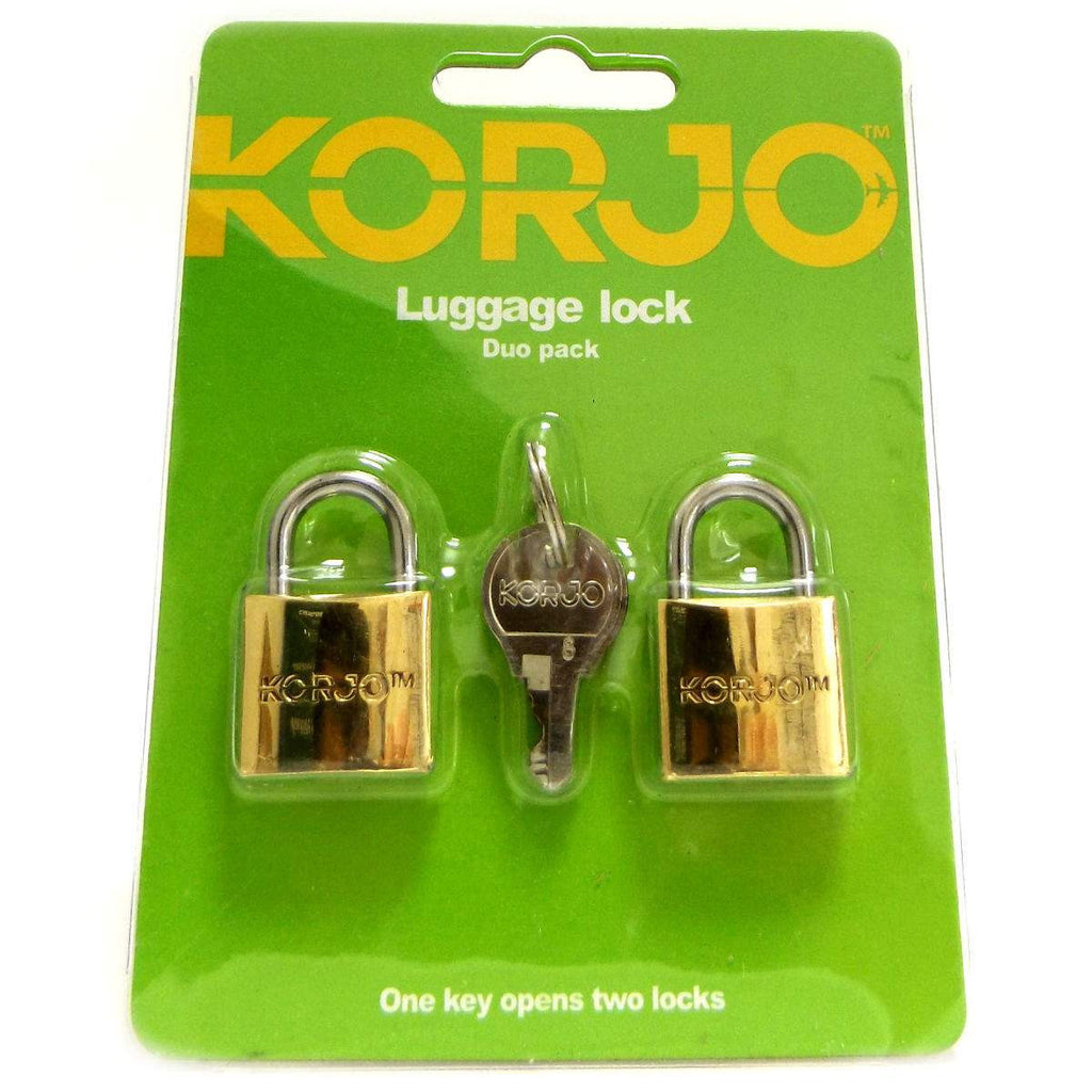 Simply Pharmacy Albany,Korjo Duo Luggage Lock - Brass
