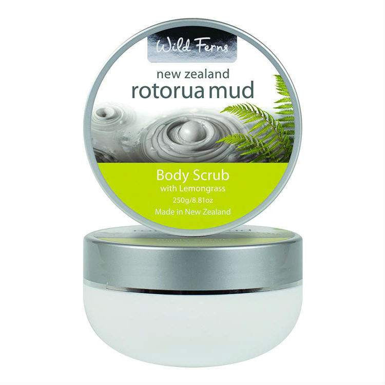 Simply Pharmacy Albany,Wild Ferns Rotorua Mud Body Scrub w Lemongrass 250g