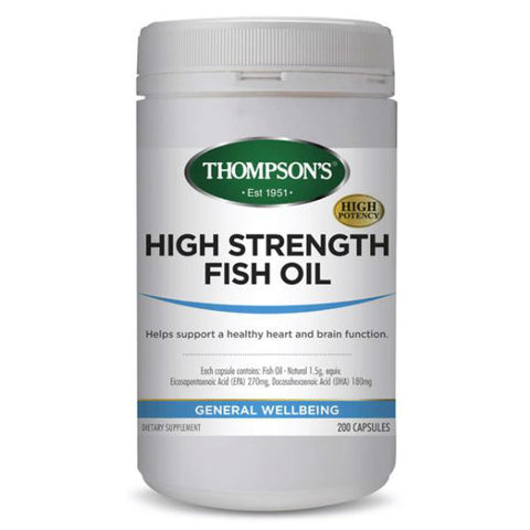 Simply Pharmacy Albany,Thompsons High Strength Fish Oil 1500mg 200s