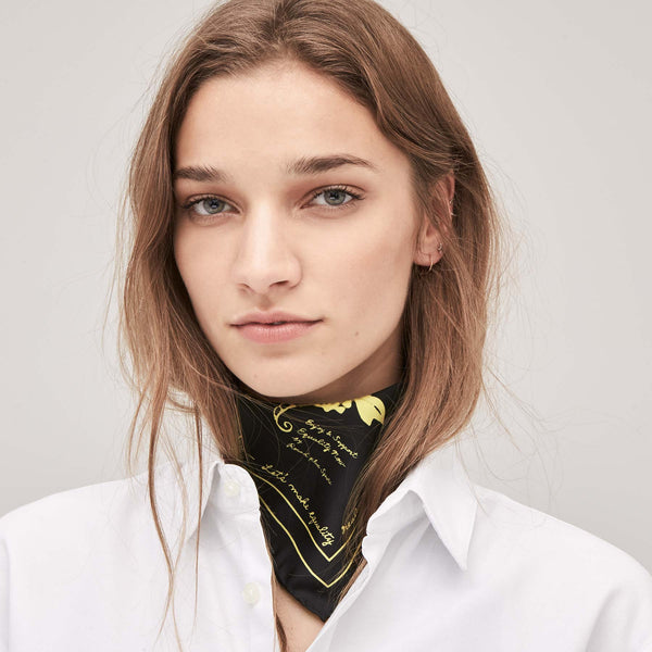 Let's Make Equality Reality Silk Bandana – Black